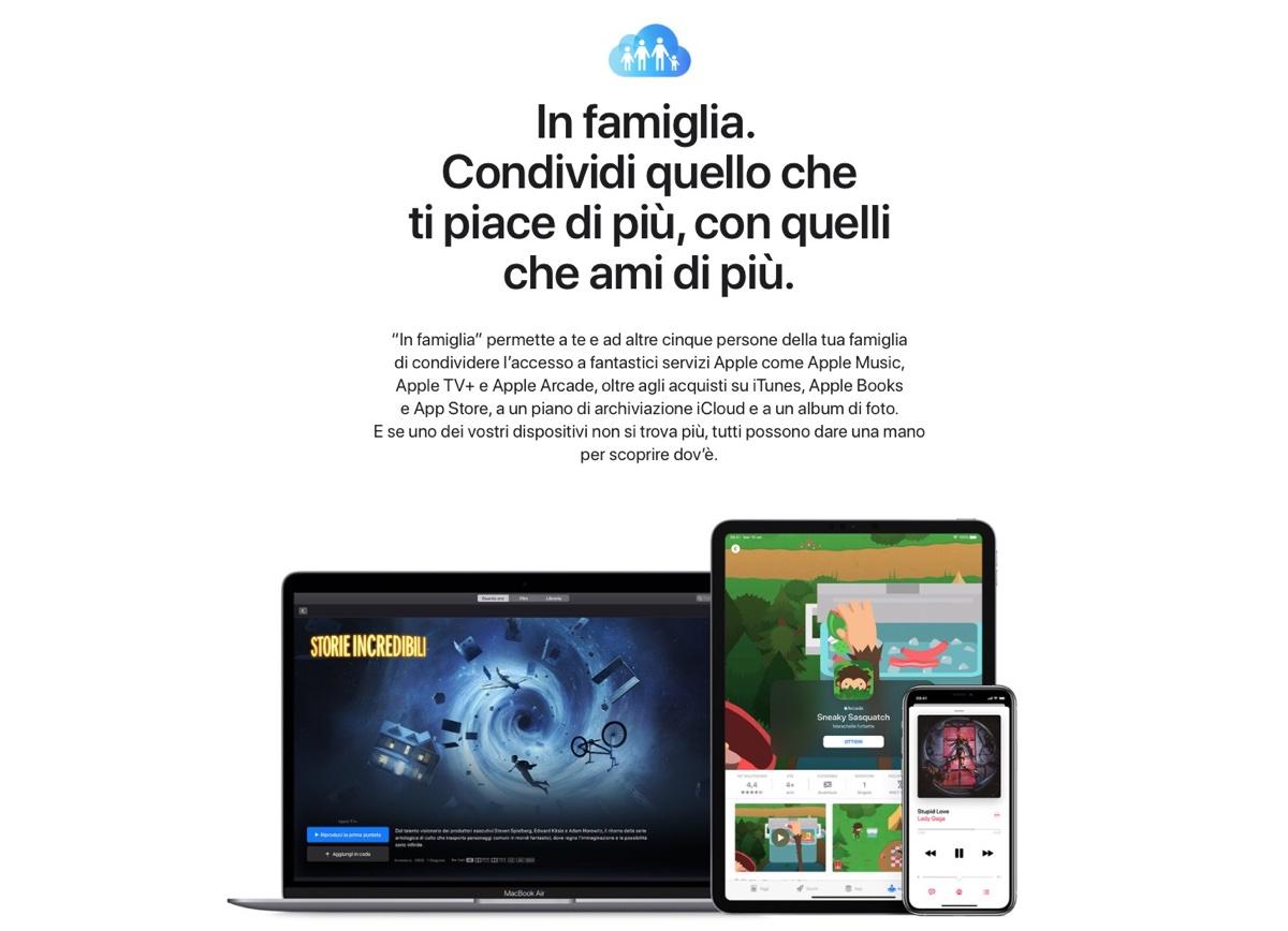 Condivisione Famiglia ora include acquisti in-app e abbonamenti