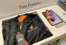 "Epic Games e Samsung mandano Galaxy Tab S7 ad influencer insieme a gadget con la dicitura ""Free Fortnite"""