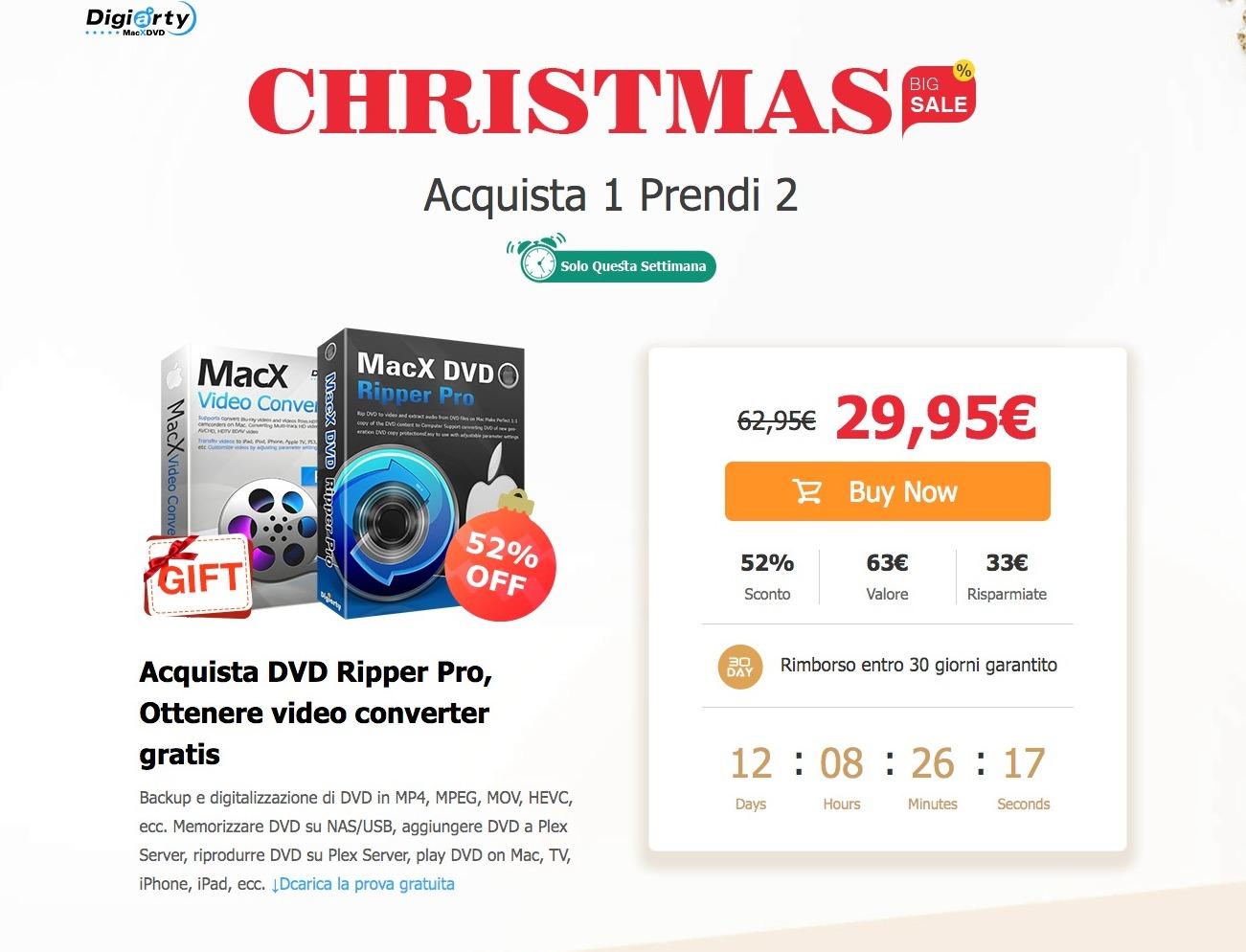 Per Natale MacX DVD Ripper Pro costa la metà (e c'è in regalo un altro software)