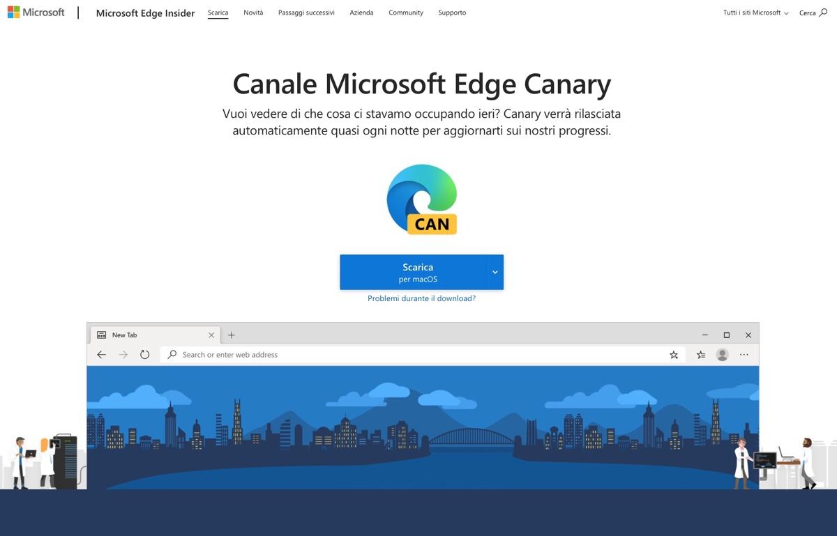 Microsoft Edge è disponibile con supporto nativo per i Mac M1