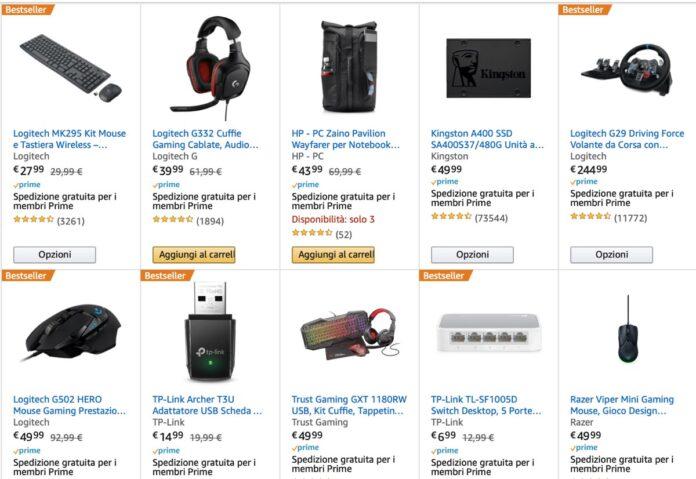 Offerta Amazon: sconto di 50 euro su spesa di 500 euro