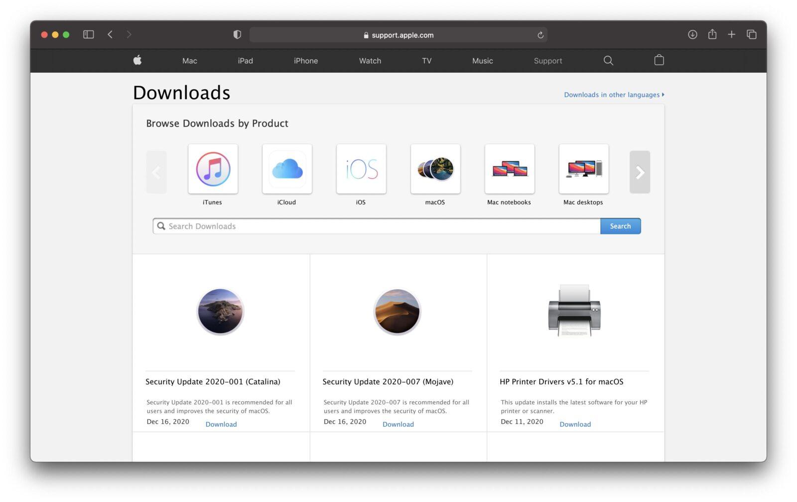 Apple non mette più a disposizione gli update combo e delta di macOS Big Sur