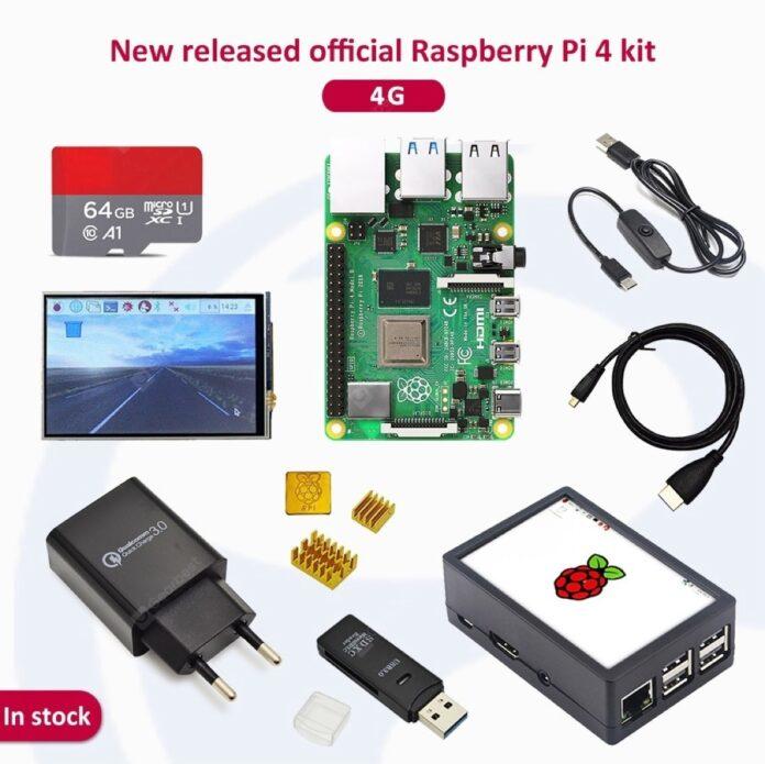 Raspberry Pi 4 con alimentatore, dissipatore, 2 GB di RAM e microSD a soli 58 euro