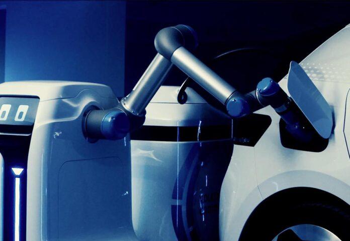 Da Volkswagen un prototipo di robot mobile per la ricarica