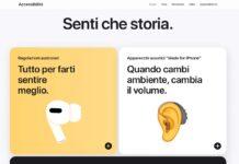 Apple ha aggiornato la sezione Accessibilità del sito web con le indicazioni delle ultime novità
