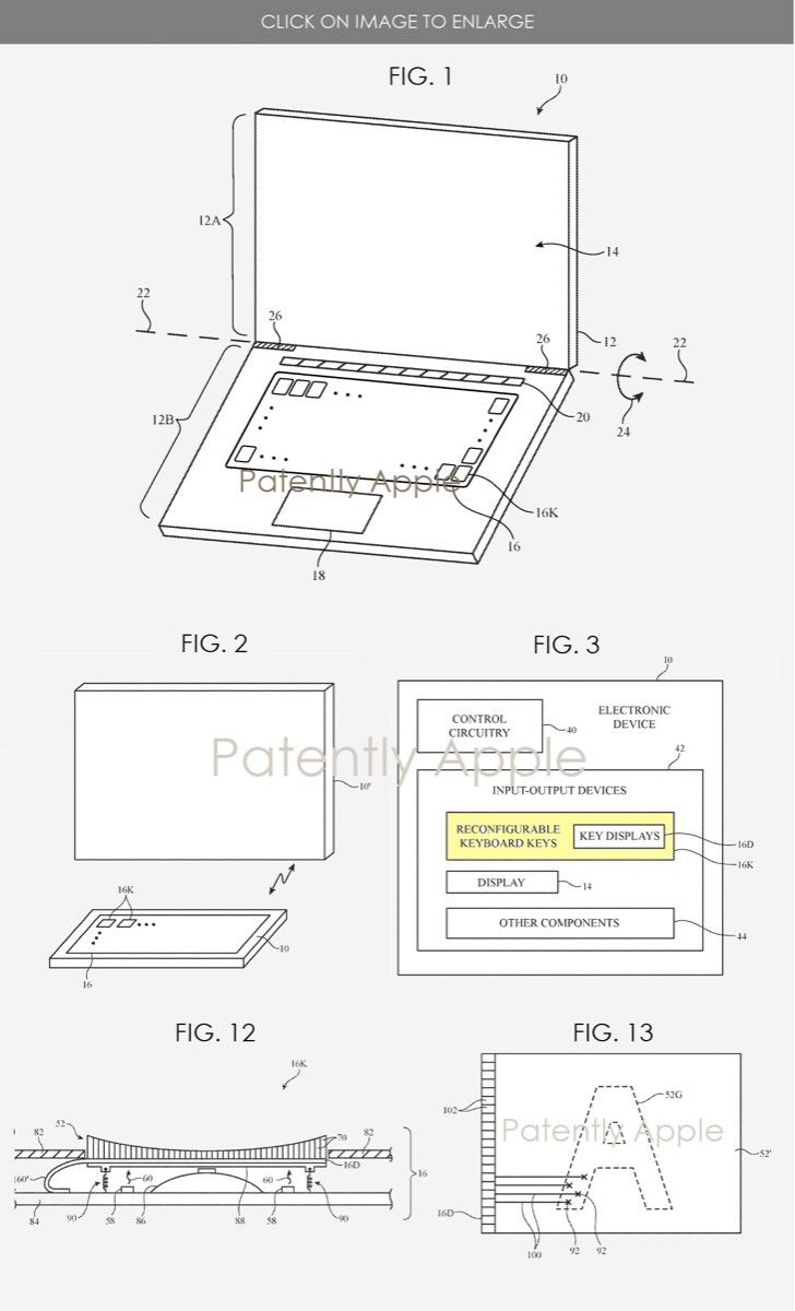 apple tastiera display