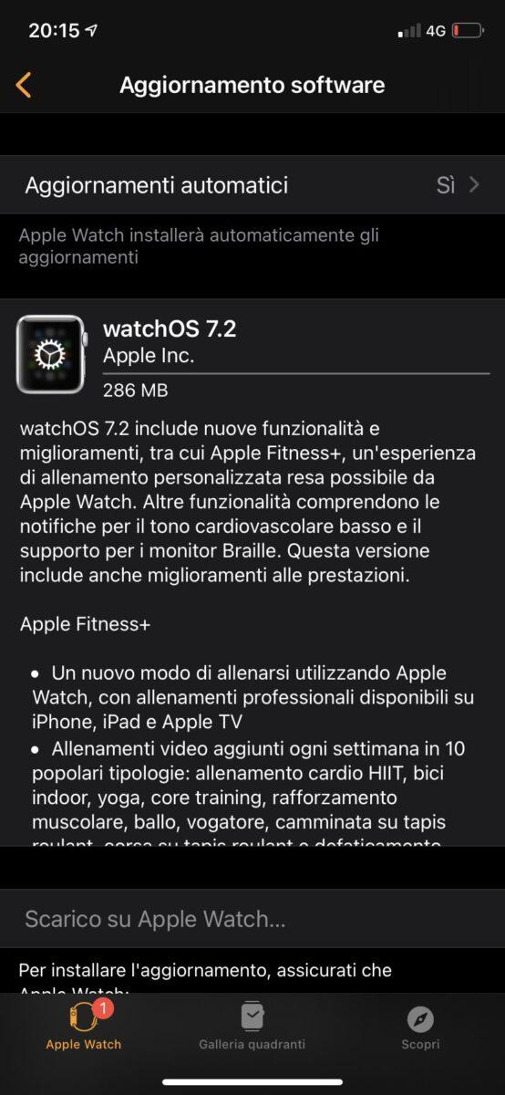 Disponibile watchOS 7.2 con le notifiche per il tono cardiovascolare