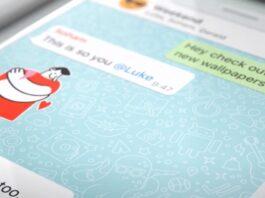 WhatsApp iOS con wallpaper personalizzati per le chat, ricerca adesivi