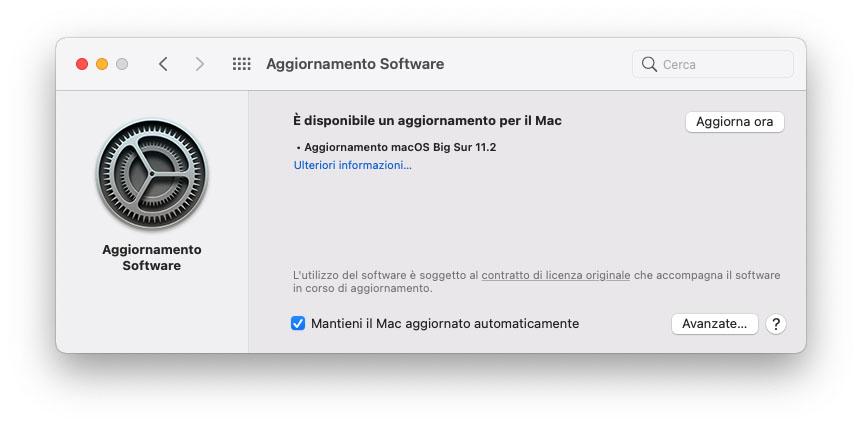 Disponibile l'aggiornamento a macOS Big Sur 11.2