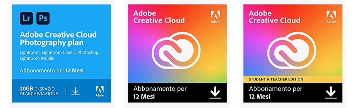 Creative Cloud scontata di quasi il 30% su Amazon, Photography Plan a 93 Euro