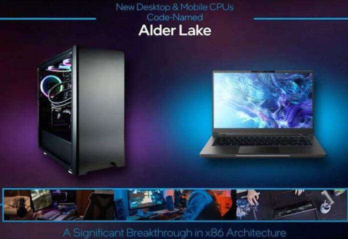Con la CPU Alder Lake, Intel tenta la sfida a Apple e ARM
