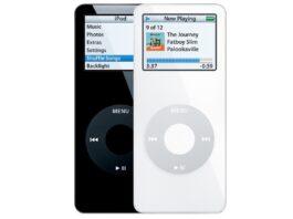 Un iPod mini di prima generazione con porta USB-C