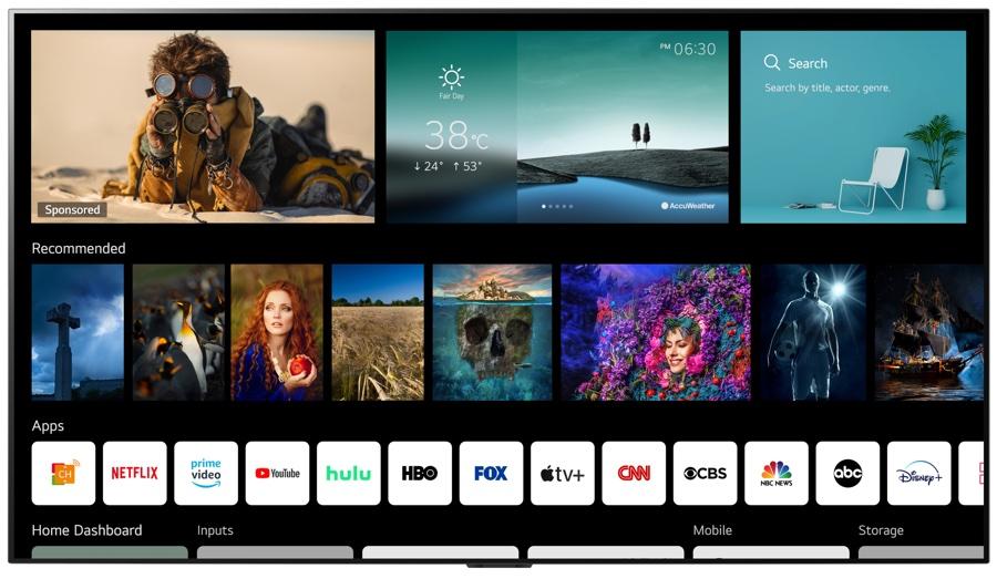 Sui televisori LG arriva webOS 6.0 e il telecomando NFC