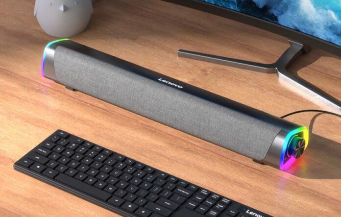 Lenovo L101, la soundbar da scrivania con anelli multicolor a 19,85 euro