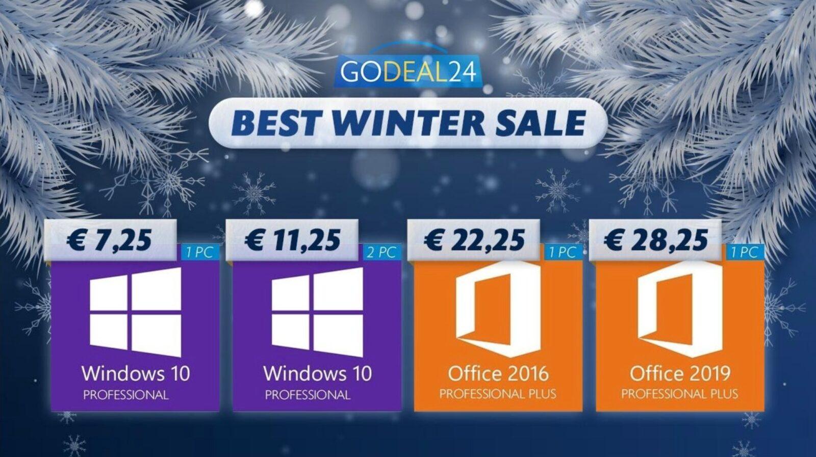 Windows 10 a soli 5€, gratis con Microsoft Office: gli sconti Godeal24