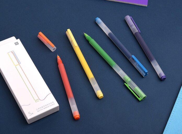 Cinque penne in gel con inchiostro colorato in sconto a 6 euro