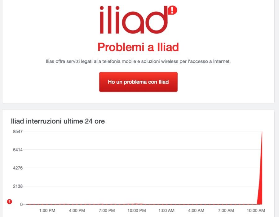 Gli utenti iliad segnalano problemi per internet e chiamate