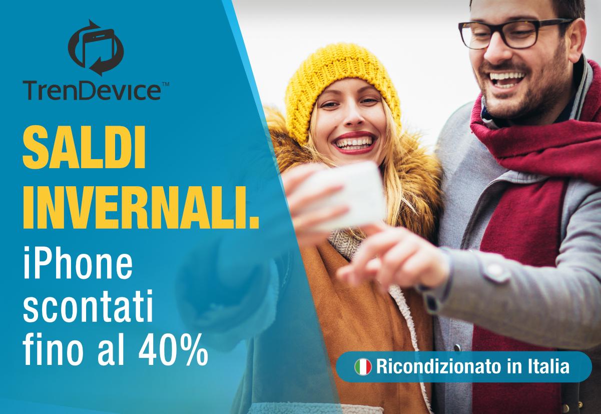 Saldi Invernali TrenDevice: iPhone scontati fino al 40%. iPhone 11 da 569,90 €, iPhone 8 da 229,90 €