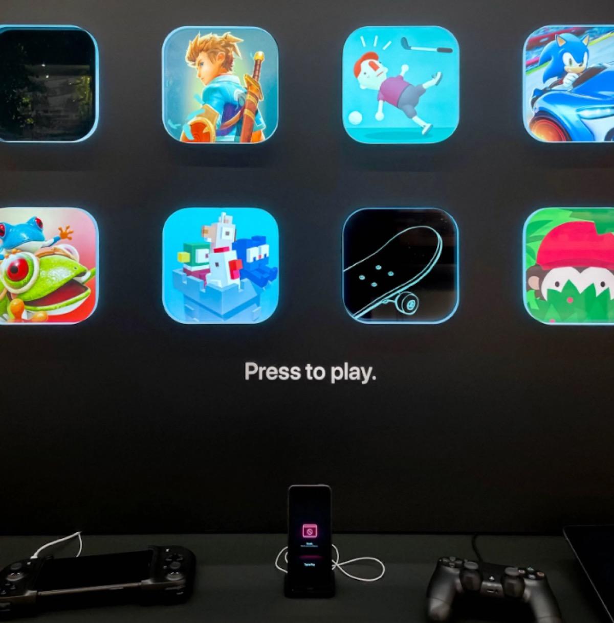 Le icone di Apple Arcade prendono vita nelle vetrine di alcuni Apple Store