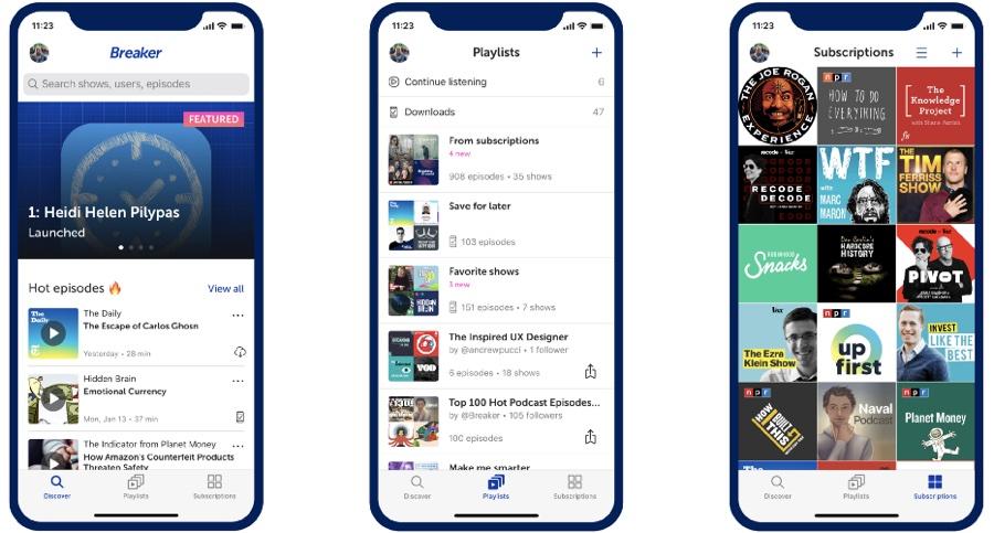 Twitter compra l'app di podcast Breaker