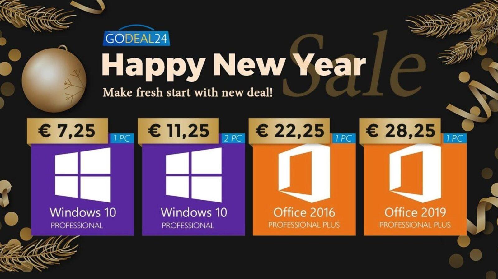 Solo 5 € per Windows 10, gratis con Microsoft Office: gli sconti Godeal24