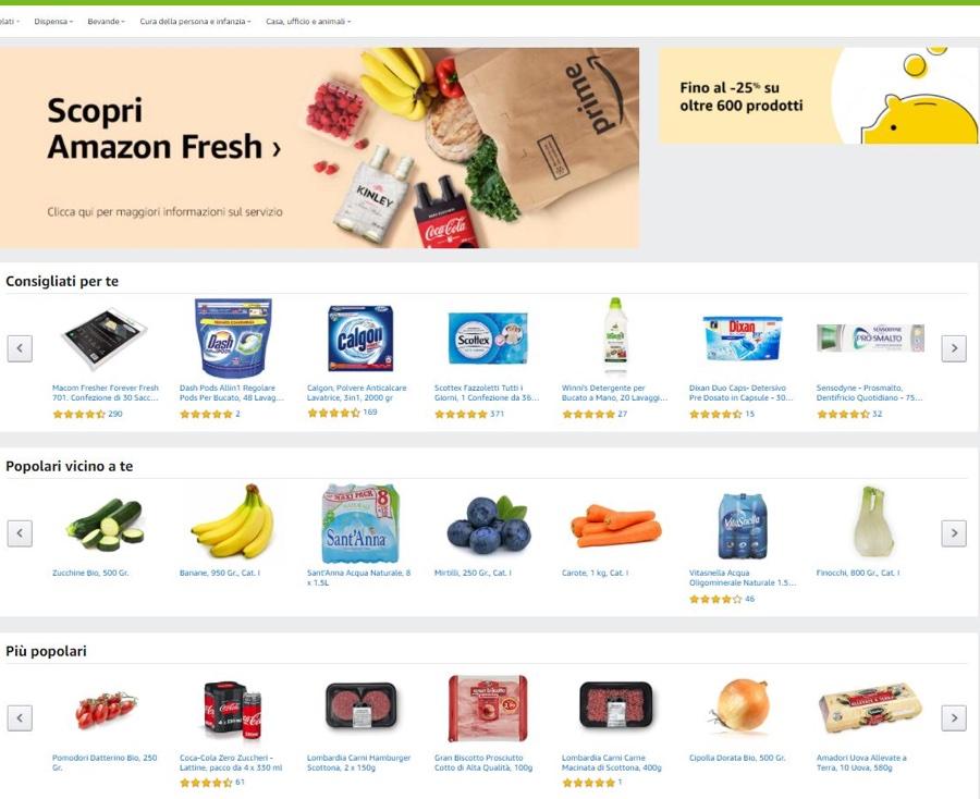 Amazon Fresh è arrivato a Roma