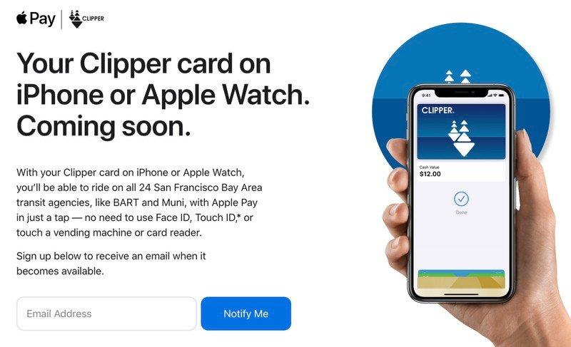 """Apple Pay, la modalità """"Carta rapida trasporti"""" con supporto per la Clipper Card nella San Francisco Bay Area"""
