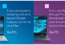 Intel ha lanciato una campagna pubblicitaria per prendere di mira i Mac con M1