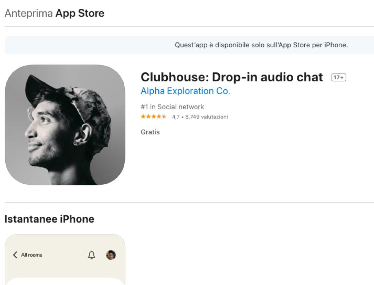 Tutto ciò che c'è da sapere su Clubhouse