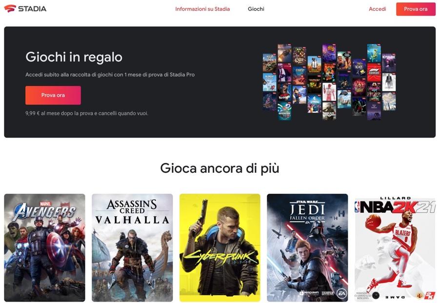 Google chiude lo studio di sviluppo giochi Stadia