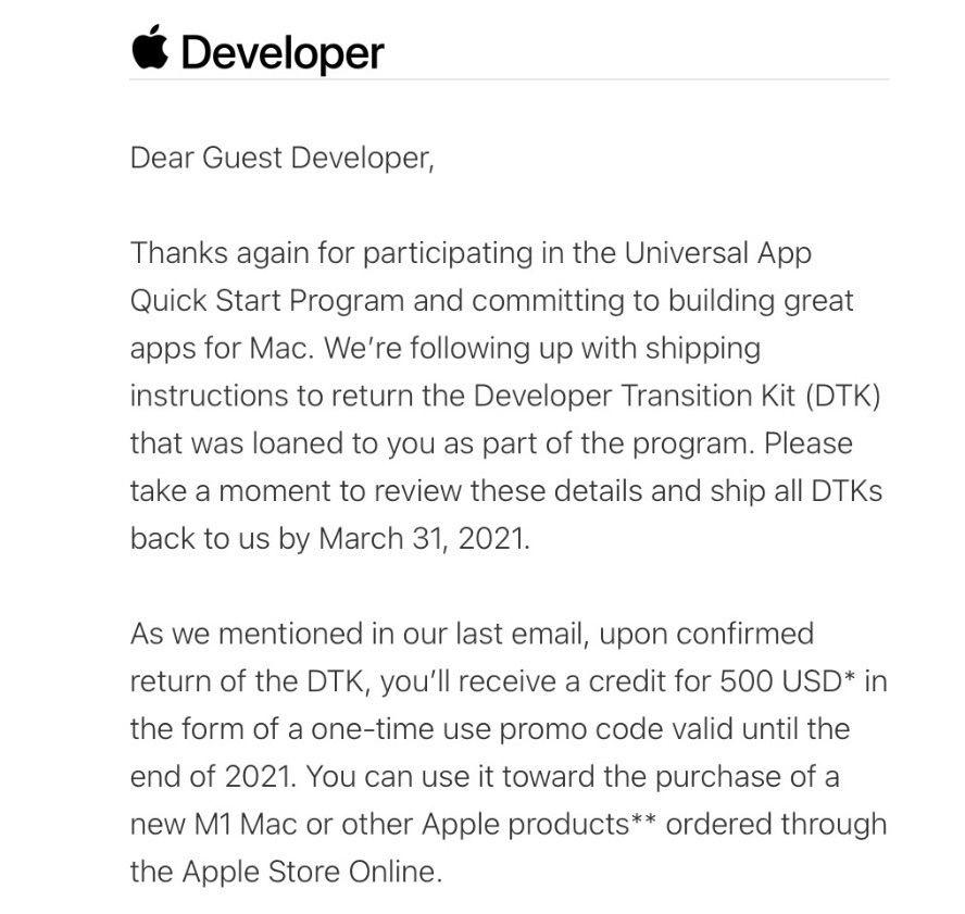 Restituzione Kit di sviluppo Apple: gli sviluppatori non sono trattati tutti uguali