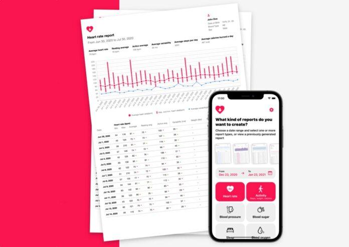 Heart Reports V2.0 per iPhone, un'app per generare report sullo stato della propria salute