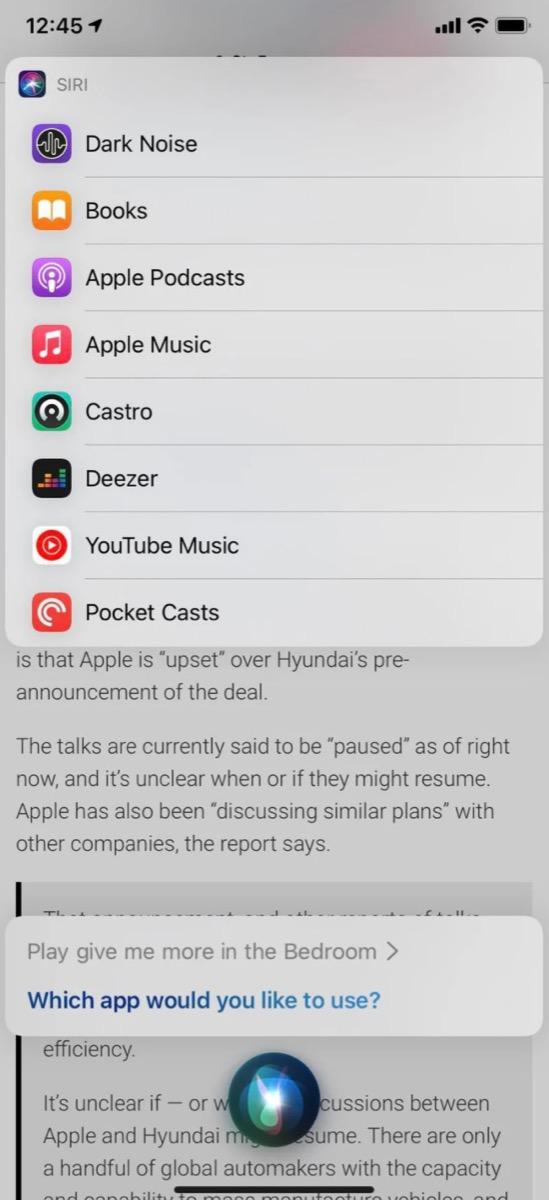 Su iOS 14.5 beta potete scegliere streaming musicale predefinito da usare con Siri