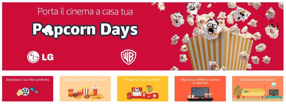 Con i Popcorn Days di Amazon ricreate la sala da cinema in casa risparmiando