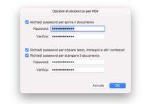 Proteggere un PDF con password gratis sul Mac