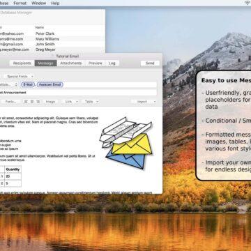 SerialMailer, utility Mac per inviare per l'invio massivo di mail