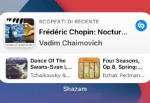 Apple aggiorna Shazam con il widget per iPhone