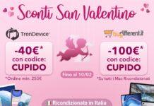 In cerca del regalo per San Valentino? Su TrenDevice e BuyDifferent sconti fino a 100€ sui migliori Ricondizionati Hi-Tech