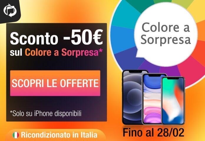 iPhone scontati di 50€ con il Colore a Sorpresa. Su TrenDevice solo fino al 28 Febbraio