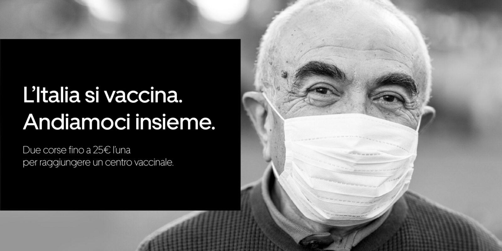 Uber regala 20.000 corse gratuite in Italia per la vaccinazione Covid-19