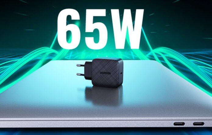 Caricatore USB-C da 65W, con una o due porte, in sconto a partire da 25,59 euro