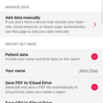 Heart Reports V2.0 per iPhone, un'app per generare un rapporto sulla salute