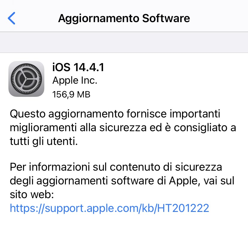 Disponibili iOS e iPadOS 14.4.1 con importanti fix per la sicurezza