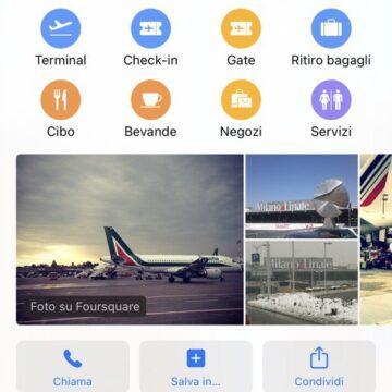 Apple Mappe mostra le informazioni Covid per gli aeroporti