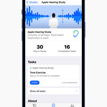 Lo studio Apple sull'udito suggerisce di abbassare il volume