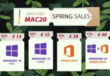 Solo 13 € licenza a vita per Windows 10 Pro, 38 € per Office 2019 Pro Plus