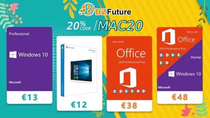 Offerta limitata: 13 euro per comprare Windows 10 Pro, Office 2019 Pro a 38 euro