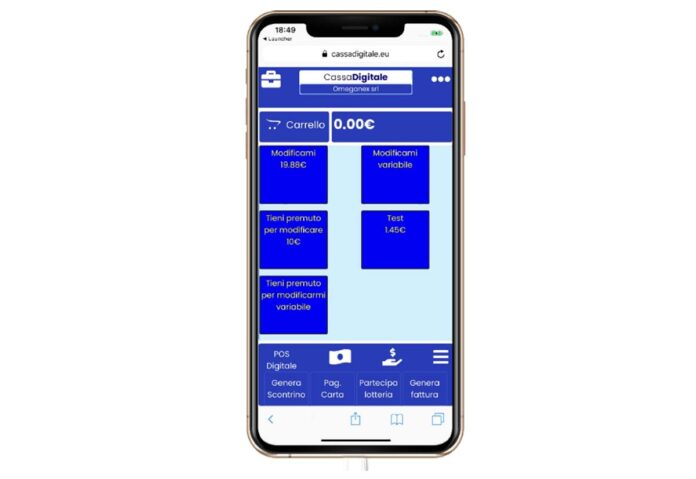 Registratore di cassa addio, arriva l'app sul cellulare