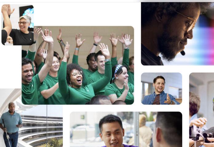 Diversità nella forza lavoro: più donne e persone di diversa etnia in Apple