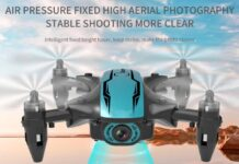 CS02 WiFi FPV Drone with 4K HD Camera/Tap-fly/App Control/Head-free Mode